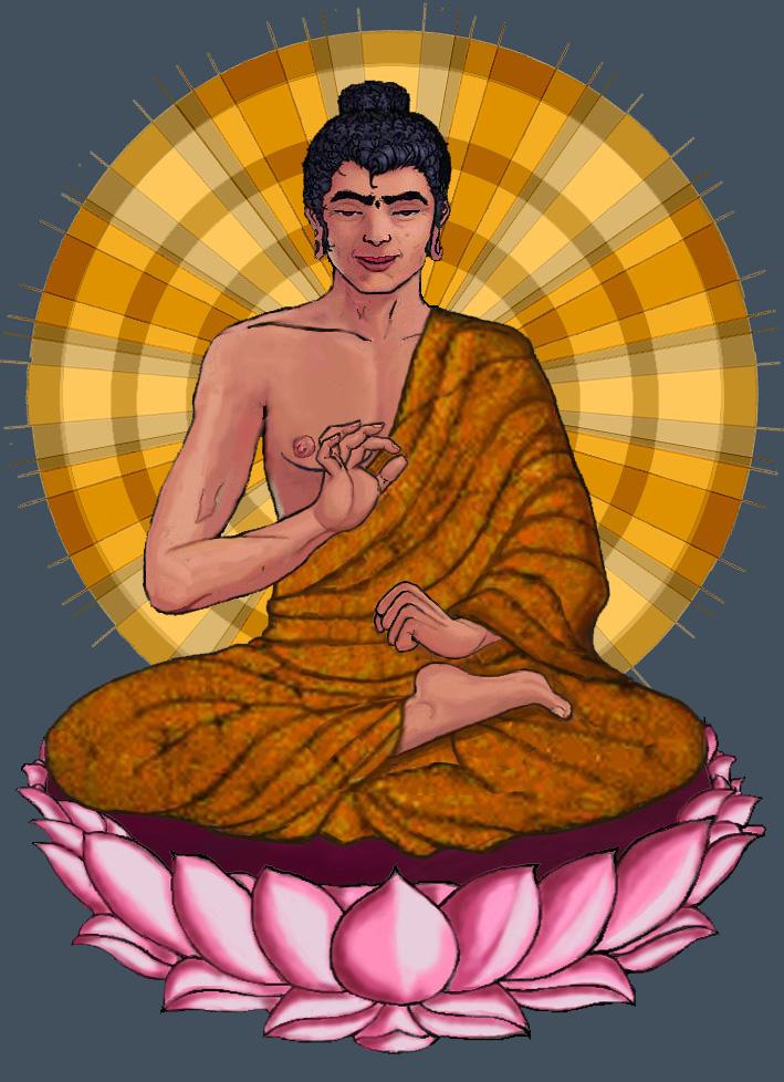 [Imaginez le Bouddha assis ici]